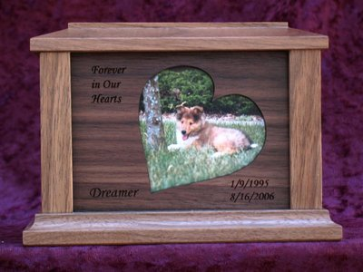 Countrywood Photo Urn Walnut - Small