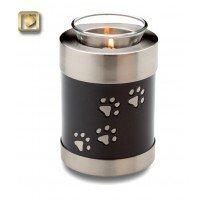 Tealight Pet Urn Midnight - Short