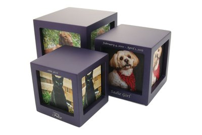 Photo Cube Urn Violet - Small