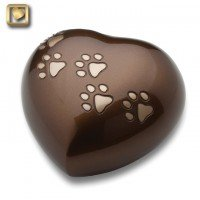 LovePaws Heart Urn Bronze - Large