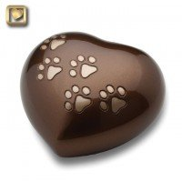 LovePaws Heart Urn Bronze - Medium