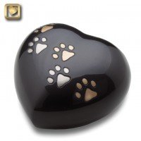 LovePaws Heart Urn Midnight - Large