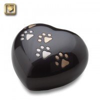 LovePaws Heart Urn Midnight - Medium