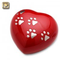 LovePaws Heart Urn Love Red - Large
