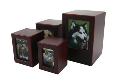 MDF Photo Urn Cherry - Extra Small